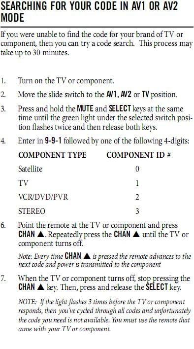how to make directv remote work