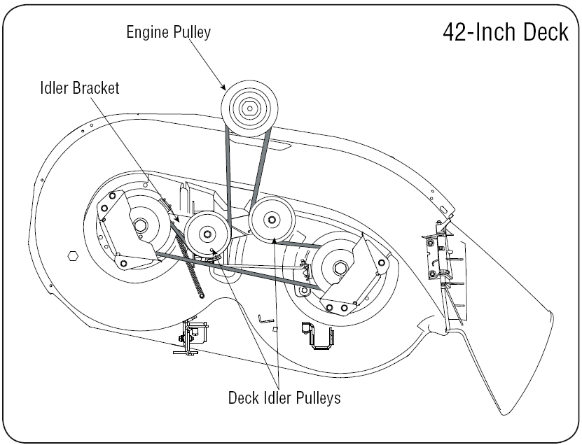 yard machine belt diagram