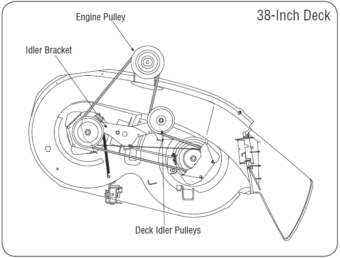 7zwhy Does Fuel Pump 345 John Deere Lawn Tractor Not Pumping besides John Deere Lawn Mower Parts Diagram as well Scotts S1642 John Deere Drive Belt Diagram 394168 likewise John Deere 100 Series Lawn Mower Engine Diagram further T2721021 Need know. on john deere la105 parts diagram
