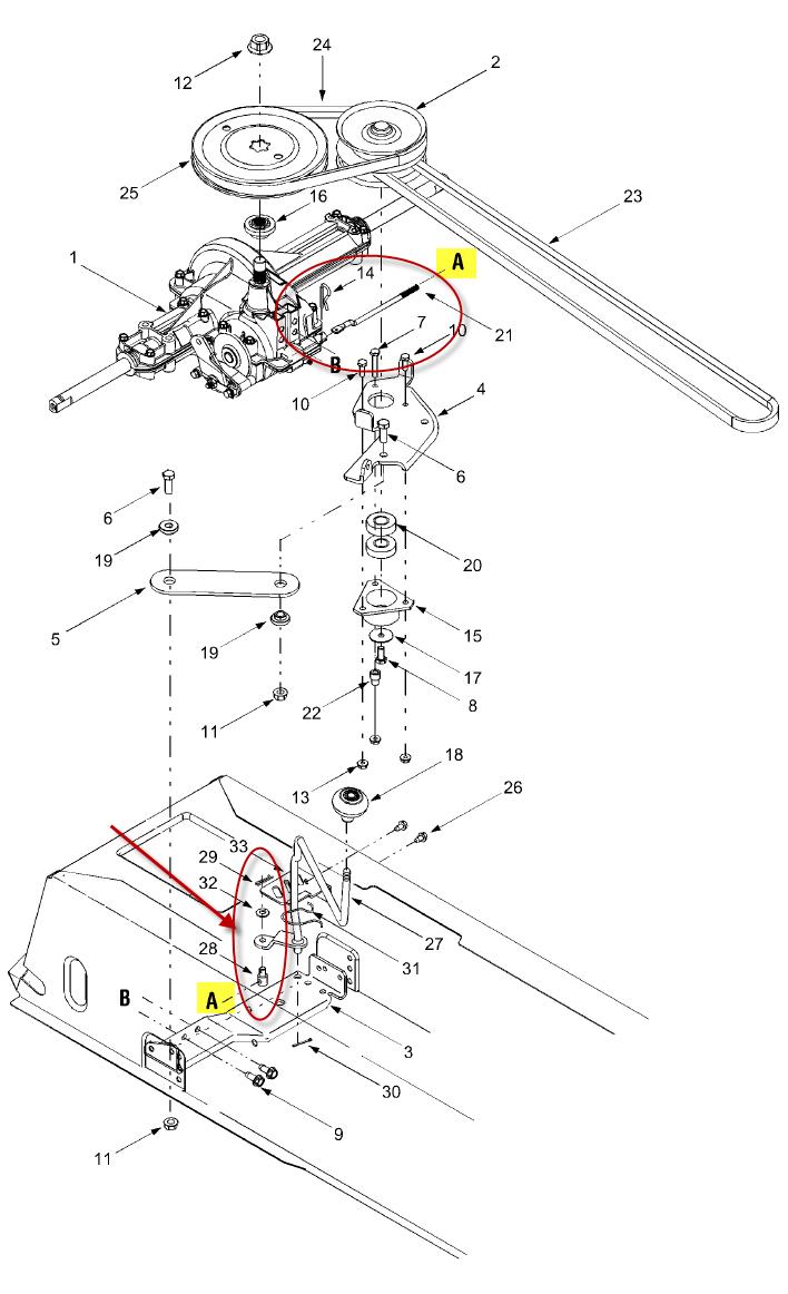 mtd riding mower yard machine linkage and rear