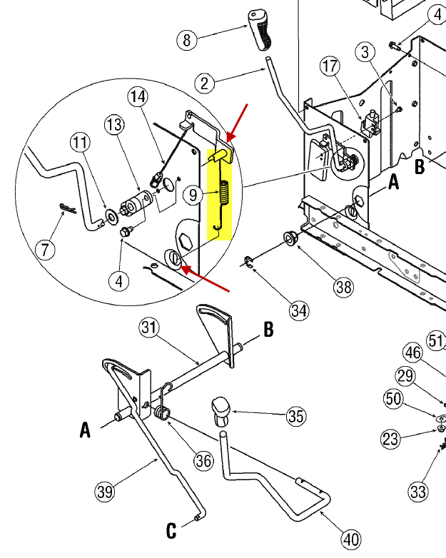 troy bilt bronco deck parts diagram  troy  free engine