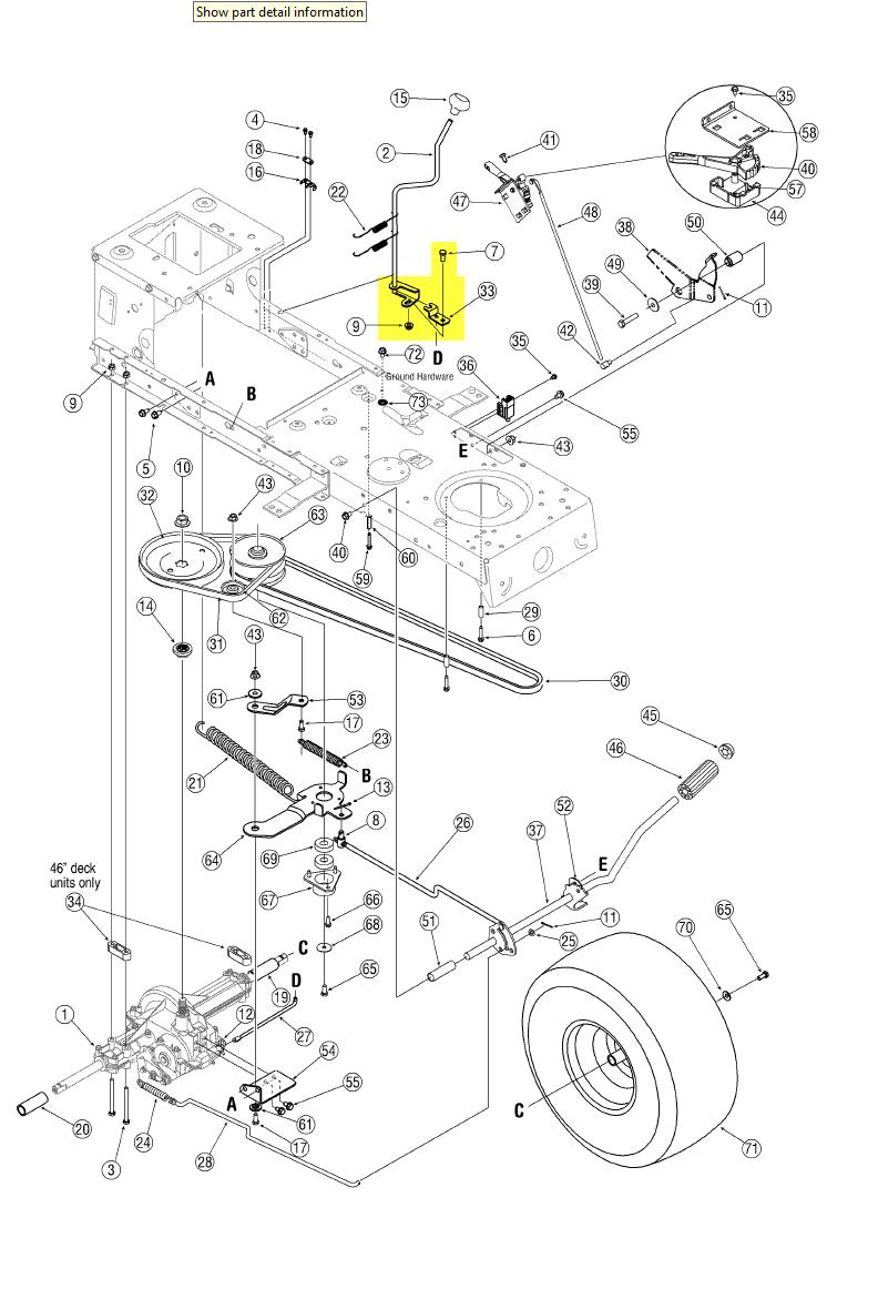 bolens mower deck diagram