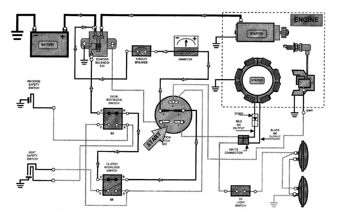 1 2 hp murray lawn mower wiring diagram get free image about wiring diagram