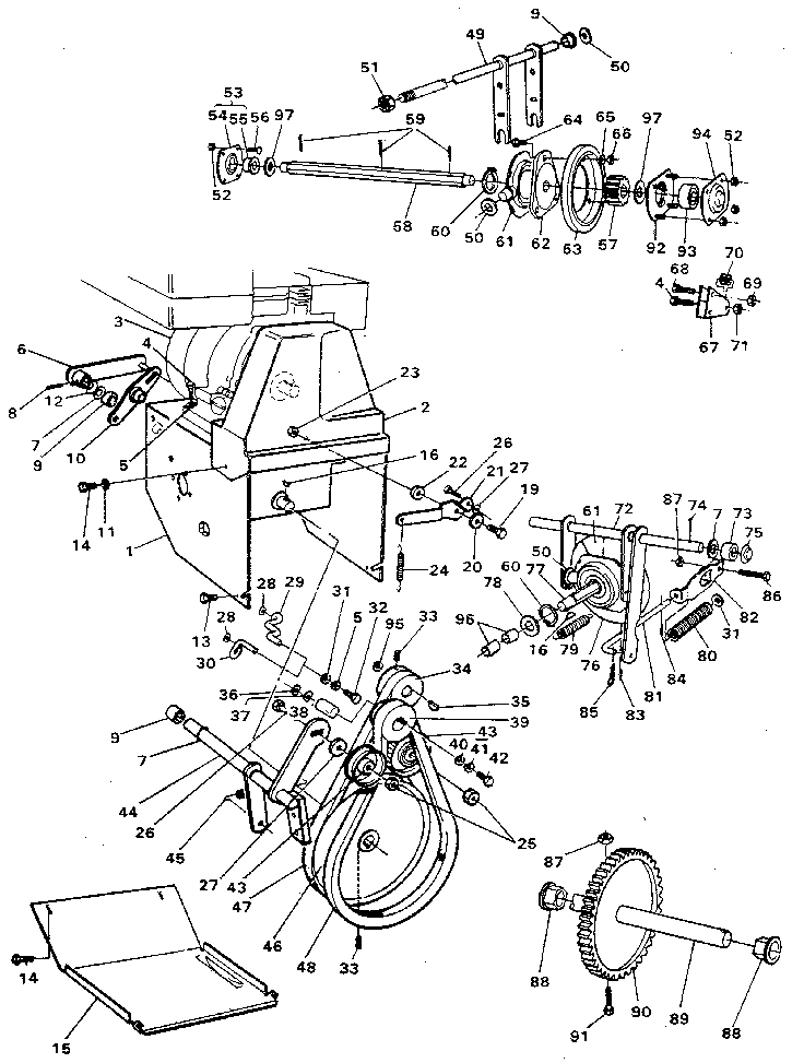 how do i remove the impeller on a sears snowblower  model