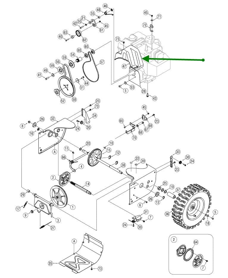 how to change auger belt on craftsman snowblower