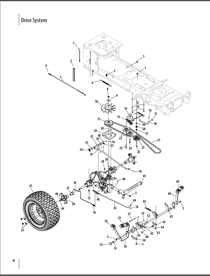 cub cadet ltx 1045 parts diagram