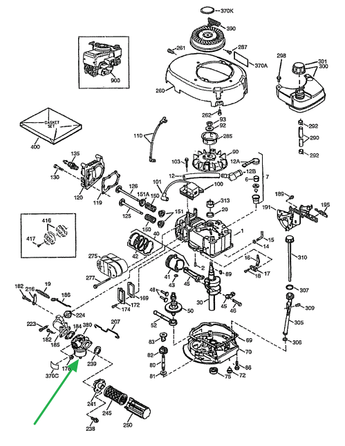 lawn mower engine schematic