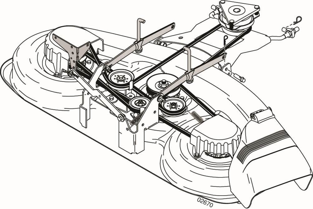 John Deere 4200 Wiring Diagram moreover Mower Spindle And Belts besides 00005 furthermore Sears Lawntractor Mower Deck Belt Installation 376324 as well Huayi Carburetor Diagram. on wiring diagram for craftsman riding lawn mower