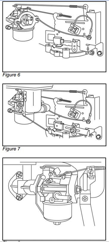 i need a diagram of the throttle linkage and governor linkage