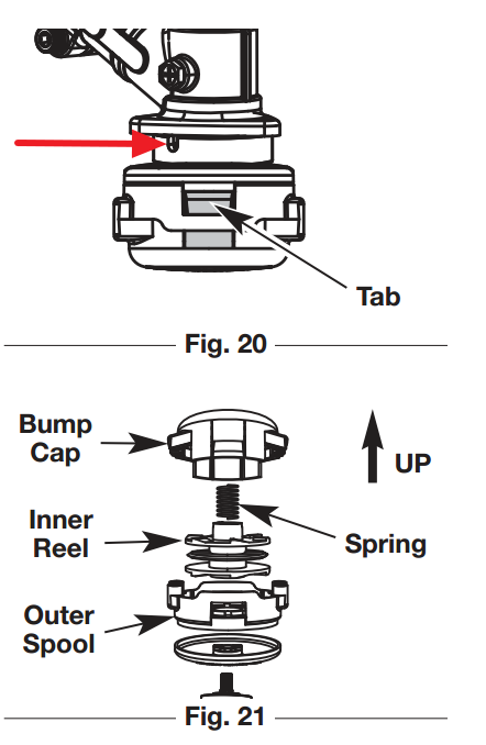how to replace the head of a troy bilt tb525 ec gas trimmer