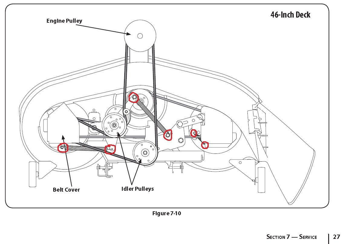 yard man 46 deck belt diagram