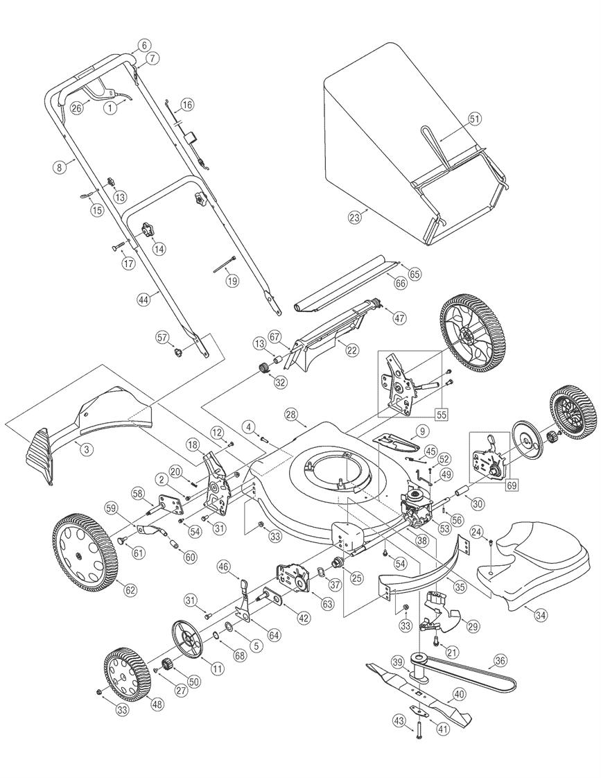 troy bilt pony deck belt diagram