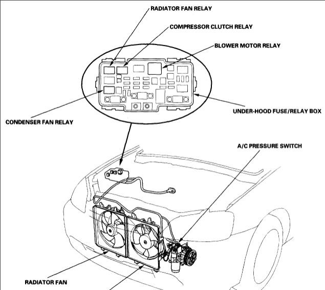 Honda relay location diagram