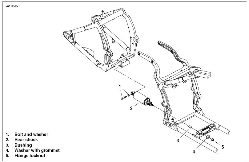 harley davidson rear axle diagram