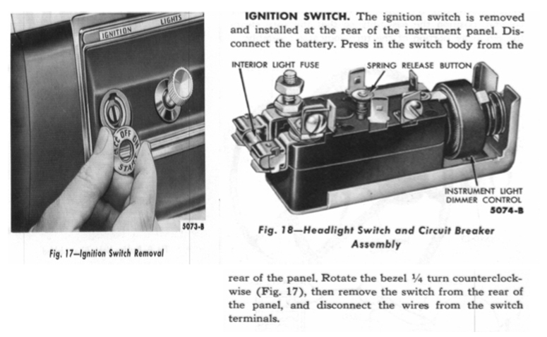1953 Chevy Truck Headlight Switch Wiring Diagram : Ignition switch diagram chevy free