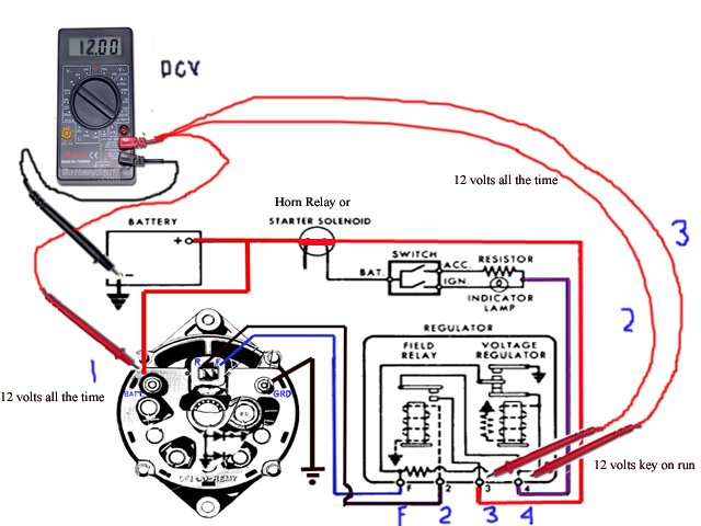 wiring diagram for 75 corvette alternator