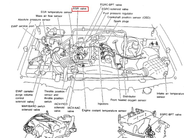 54n3j Map Sensor 2000 Nissan Frontier 2 4l 4 Cyl Engine on nissan sentra sensor location