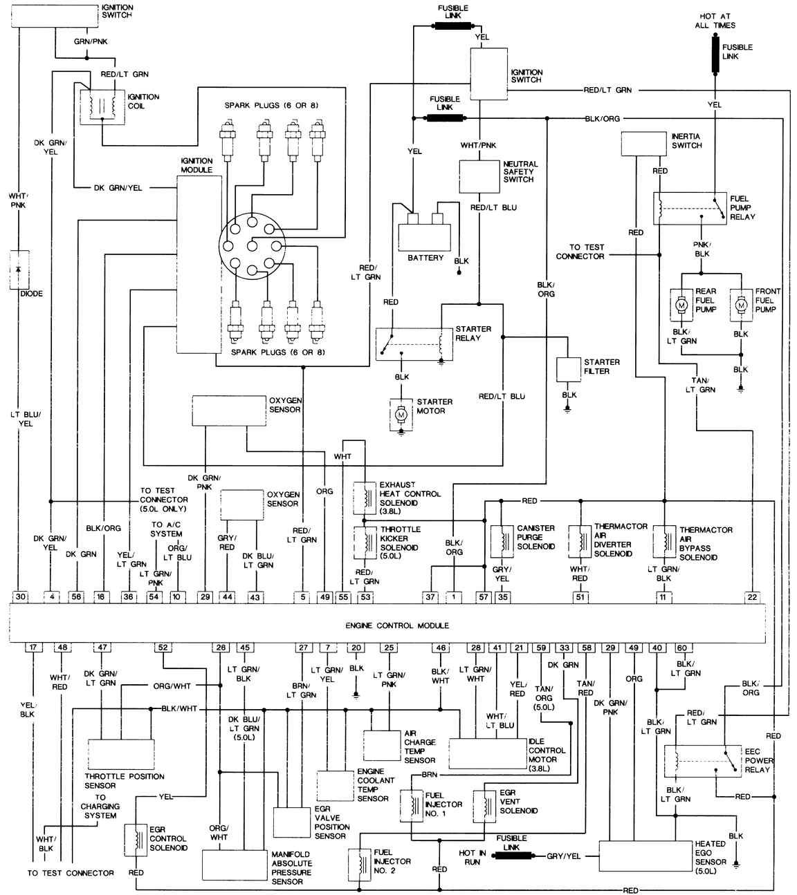1986 ford mustang wiring diagram wiring diagram online1986 ford ltd wiring diagram owner manual \u0026 wiring diagram 1986 ford mustang starter solenoid wiring