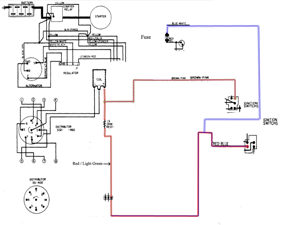 1974 chevy ignition switch wiring diagram 1951 chevy ignition switch wiring diagram schematic 1974 ford 351 c ignition. no spark. put new modual, pick ...