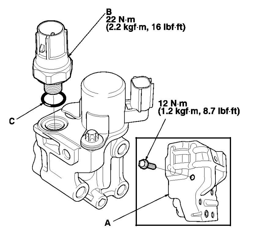 P2646 Rocker Arm Actuator Location on 2004 Honda Accord Vtec Pressure Switch