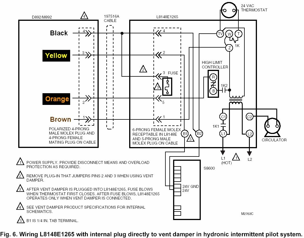 Diagram I Have A New Aquastat Type L8148e The Thermistor And