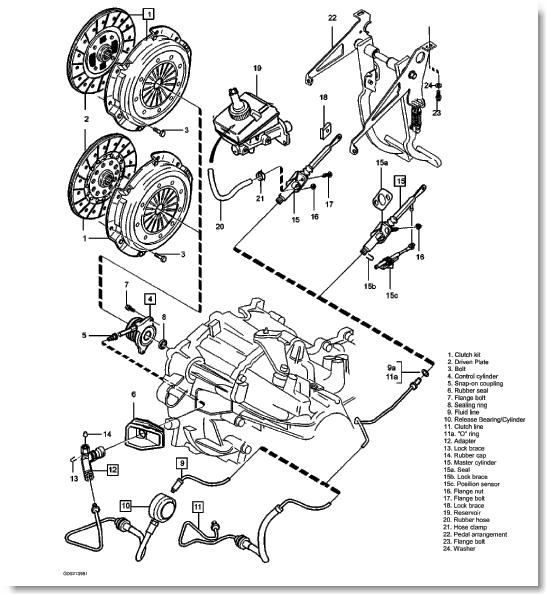 service manual  2000 volvo s40 diagram showing brake line