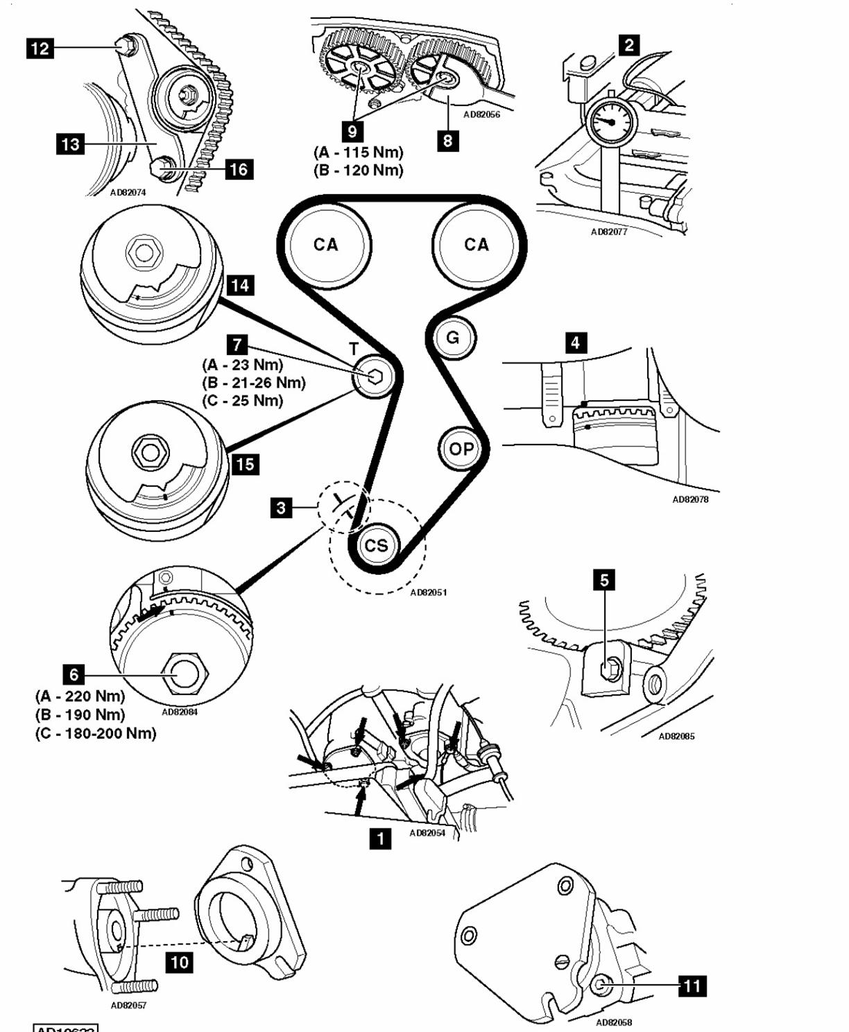 Fiat Brava Timing Belt Set Up 1 2 Without Kit T Reg