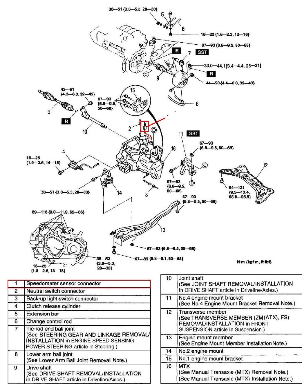 Rx8 Fuse Box Diagram likewise 4nxol Mazda Protege Change Vehical Speed Sensor Speedometer furthermore 2000 Toyota Tundra Bank 2 Sensor 1 Location as well 7920CH08 REMOVAL AND INSTALLATION furthermore 28521 92 Riviera Steering Column Electrical Issue. on mazda 626 engine diagram
