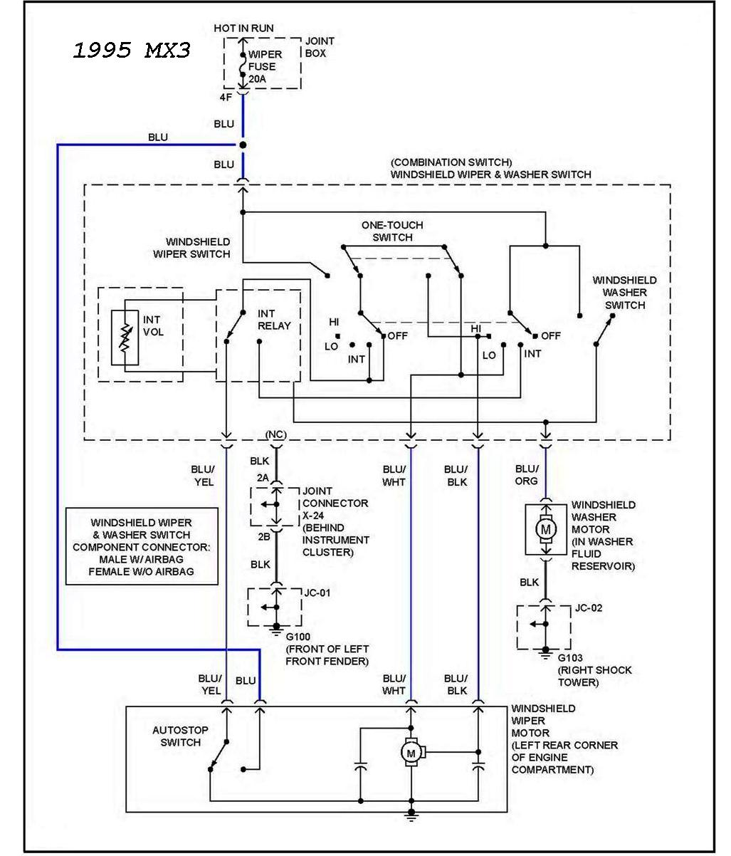 96 mazda mx 6 turn signal wiper switch assembly