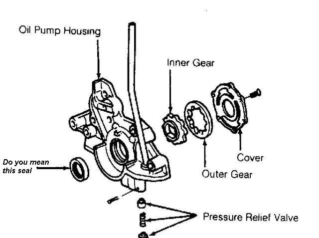 91 mazda 323  main drive pulley has a spacer and a seal