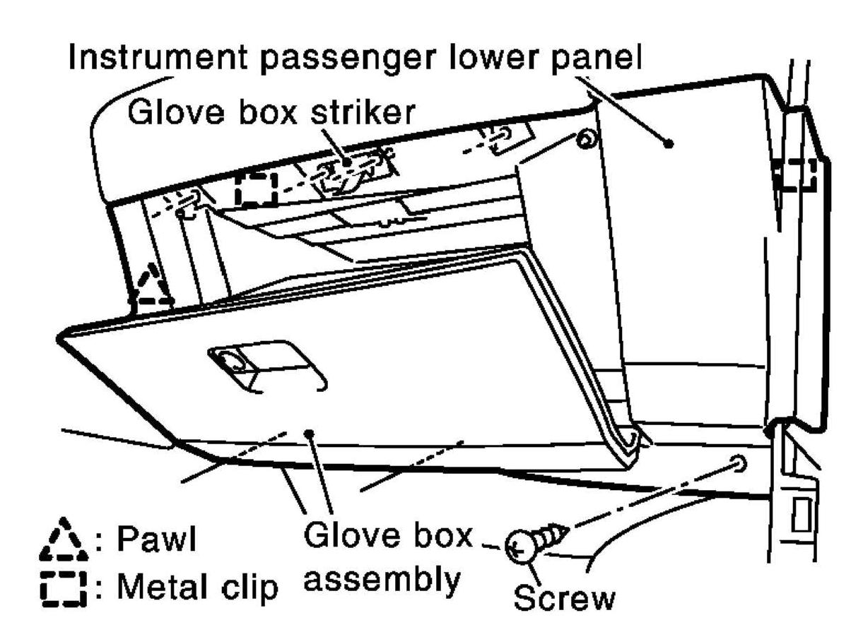 Service Manual How To Remove 2009 Nissan Sentra Glove Box