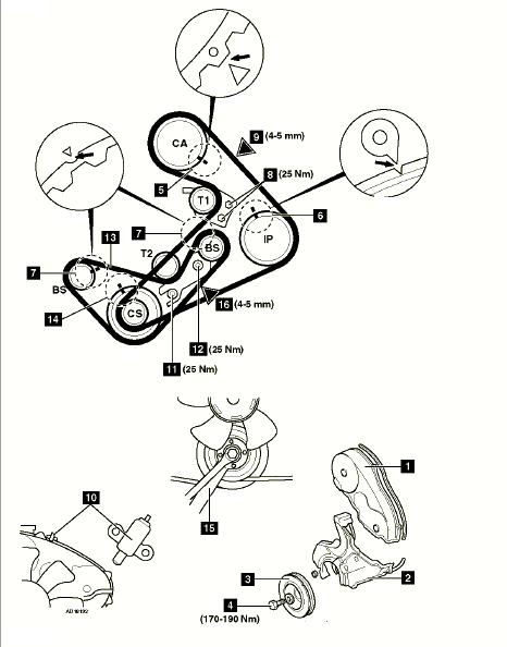 как выставить ремень грм на митсубиси л200 2.5 турбо дизель 1999 года