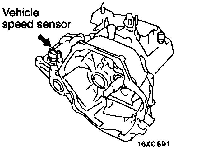 where is the vehicle sd sensor located on a