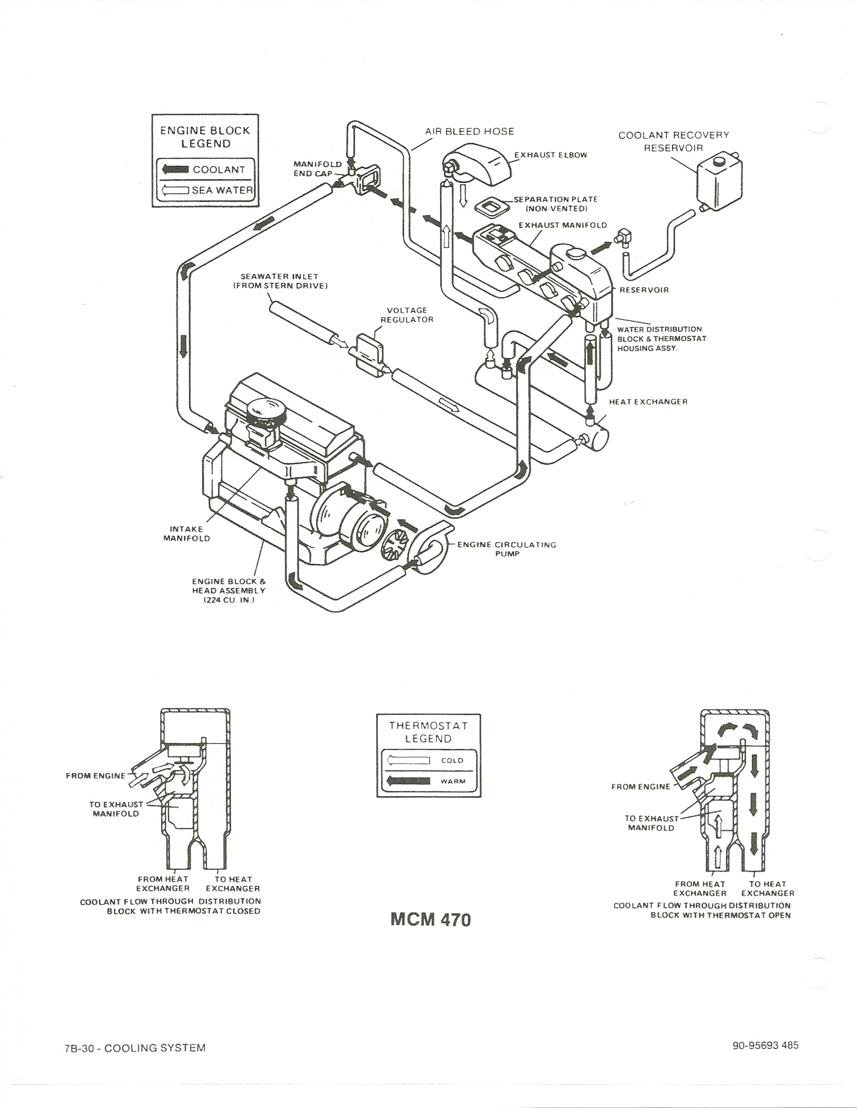 mercruiser 4 3 thermostat diagram