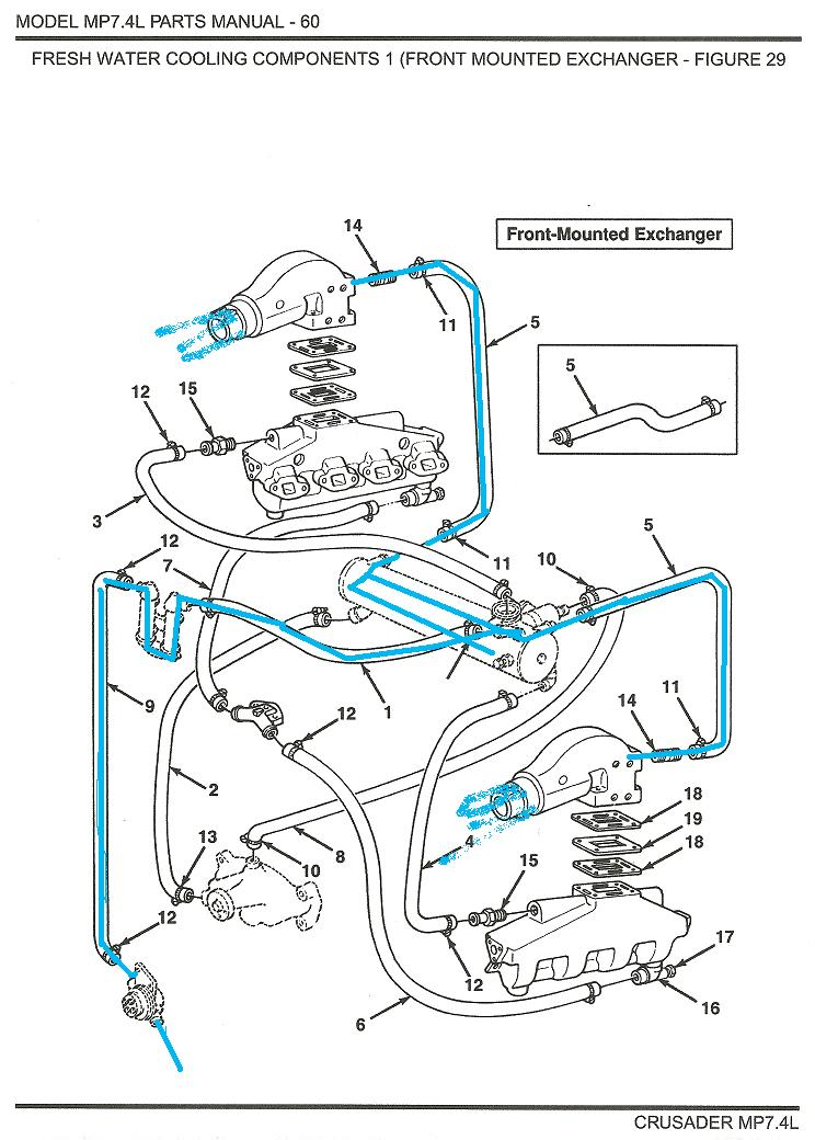 Crusader Marine Engine Cooling Diagram - Data Wiring Diagram