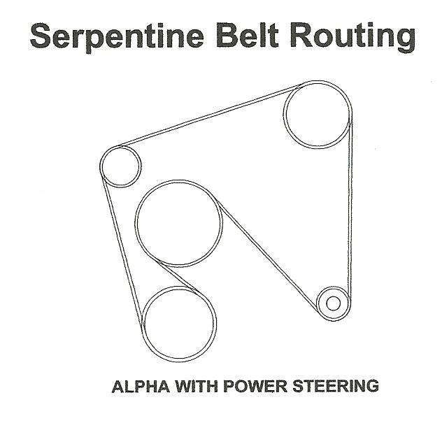 i a 1997 mercrusier 5 7l i need diagram for serptine belt