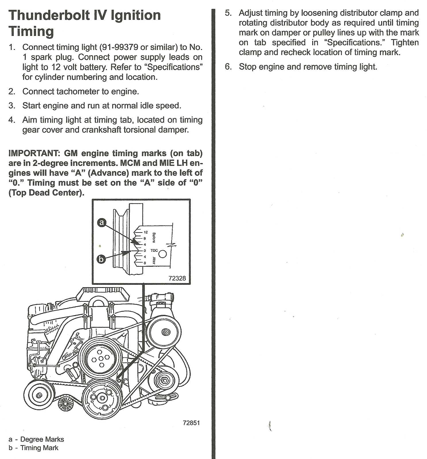 how do i set the ignition timing on my 1993 sea 5l gm