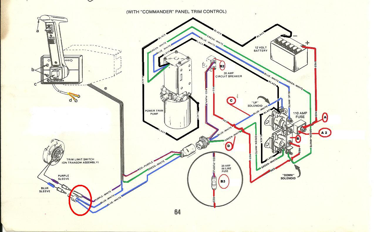 3 wire tilt and trim wiring diagram
