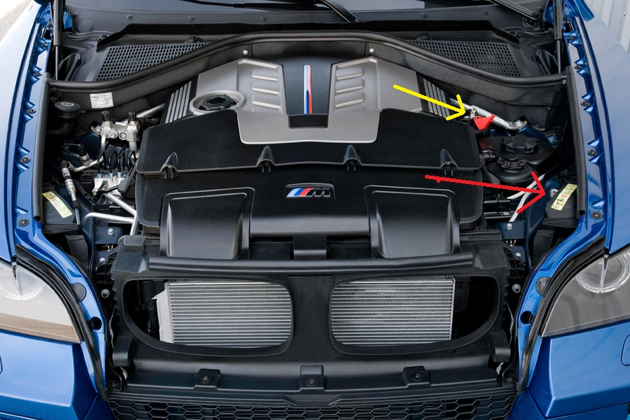 Where Can I Attach Jumper Cables To Use My X5 To Charge Another Car