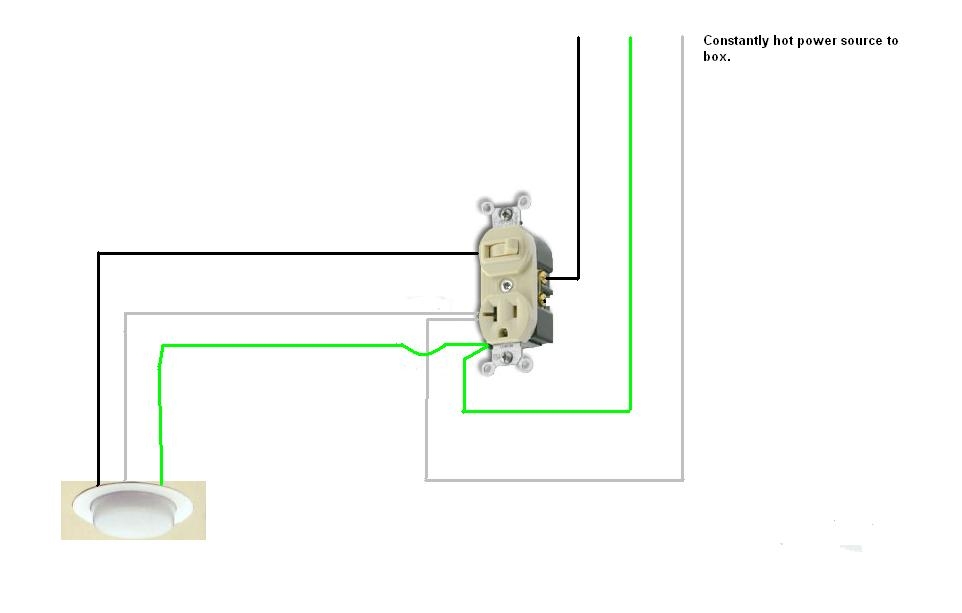 wiring diagram for a switch and outlet the wiring diagram combo switch receptacle wiring diagram nodasystech wiring diagram