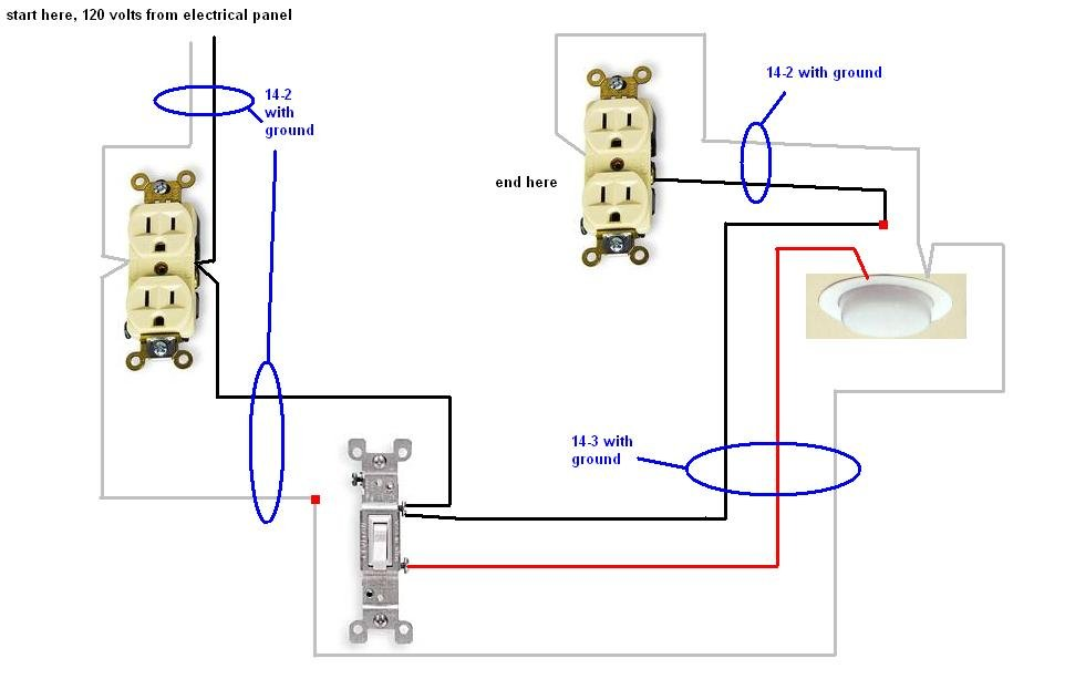 Wiring Diagram For Attached Garage : Basic garage door light wiring diagrams free