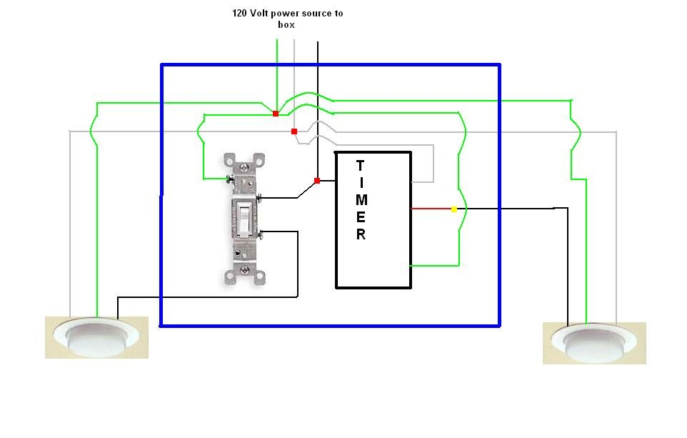 Diagram  Outdoor Light Timer Wiring Diagram Full Version