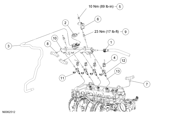 2008 ford escape fuel pump wiring diagram how do i change a fuel injector on a 2007 escape 2.3l i4 ...