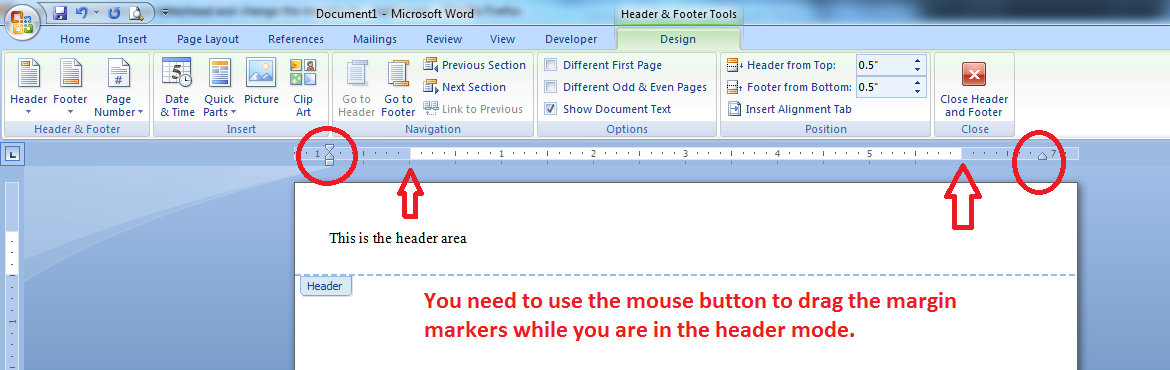 how to put 2 margins in word