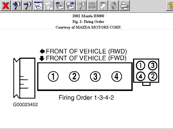 What Is Firing Order For A Mazda B3000 3 Liter Truck