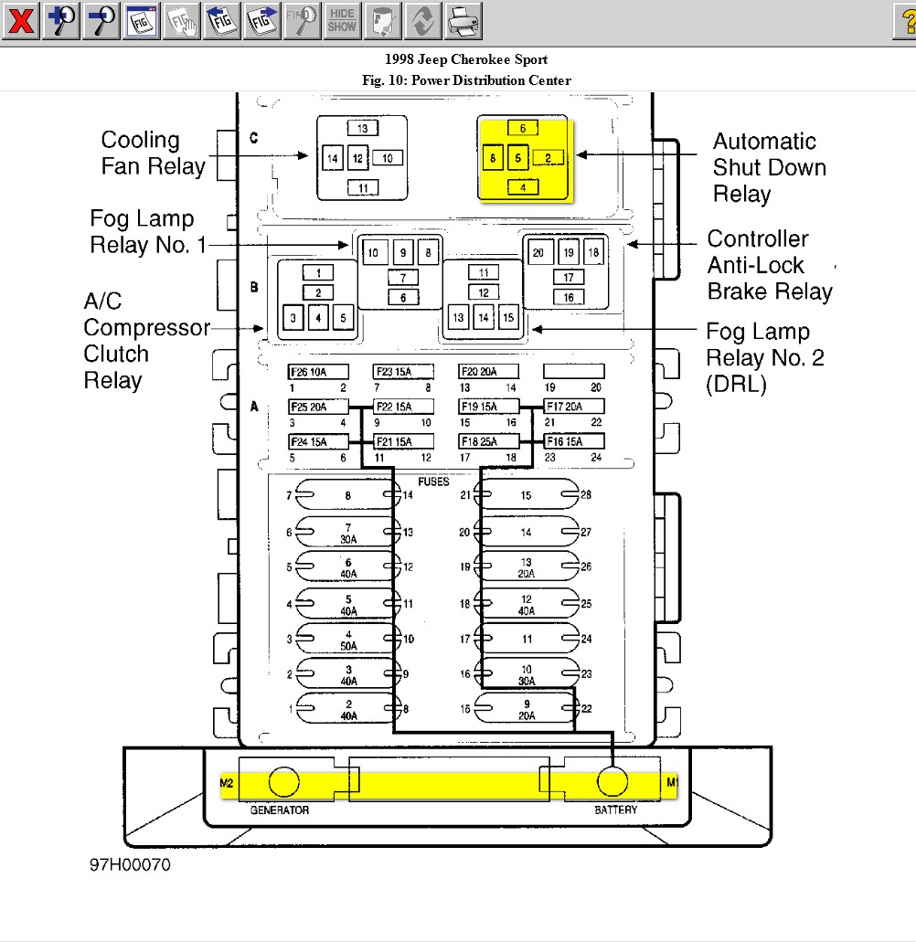 fuel pump relay location 97 f350  fuel  free engine image