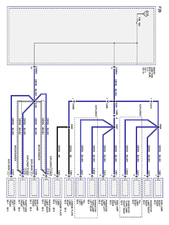 2007 Mercury Wiring Diagram Schematic 2019 2004 Mountaineer Radio Service Manual Montego Low Switch Circuit