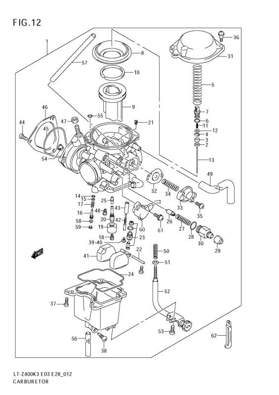 Trying To Remove The Mikuni From An 04 Suzuki Z250 Quad Sport To Clean The Pilot Jet  How Do I