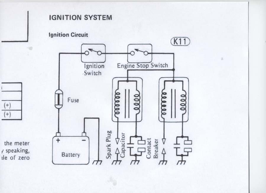 a wiring diagram for the coil ignition on a 1981 kawasaki starter ask your own motorcycle question