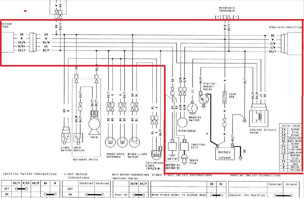 Kawasaki Mule Ignition Wiring Diagram  Kawasaki  Wiring
